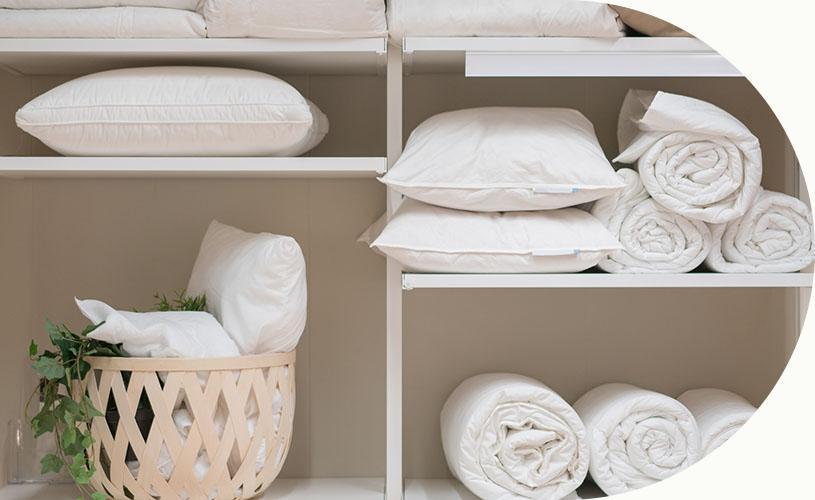 ręczniki poukładane